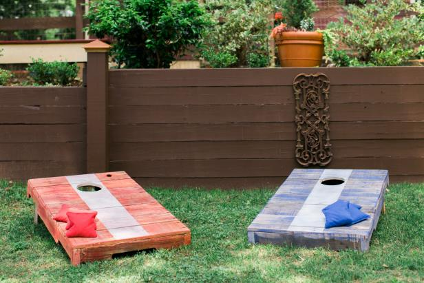 DIY pallet corn hole boards