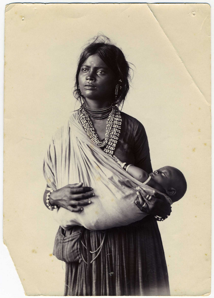 Indian Mother and Child - Vintage Photograph