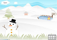 Here is a Japanese Winter #PointAndClick adventure where you need to find 10 little gnomes to win! #WinterGames #OnlineGames