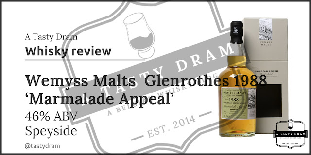 A Tasty Dram Whisky review 1988 Glenrothes bottled by Wemyss Malts