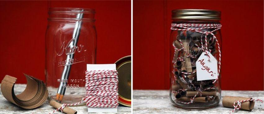 Bigliettini in un barattolo di vetro | Handmade Mason Jar Gift