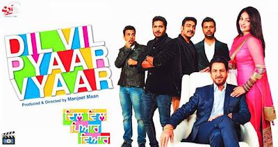 Poster Of Dil Vil Pyaar Vyaar (2014) Full Punjabi Movie Free Download Watch Online At worldfree4u.com