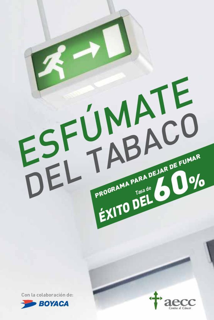 Esfúmate del tabaco: Programa para dejar de fumar tasa de éxito del 60%