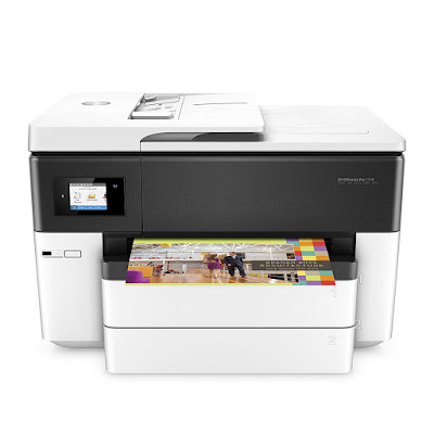 Main functions of this versatile HP colouring inkjet photograph printer HP OfficeJet Pro 7740 Driver Downloads