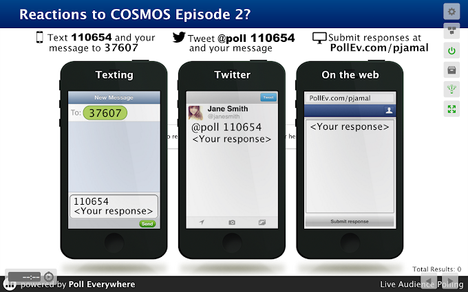 Anonymous Live Audience Polling regarding COSMOS Episode 2! (An experiment)