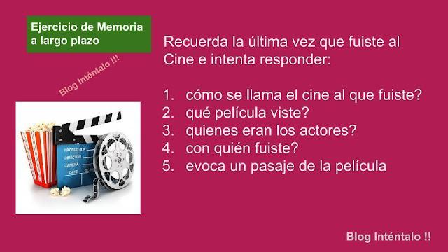 ejecicios  para la memoria