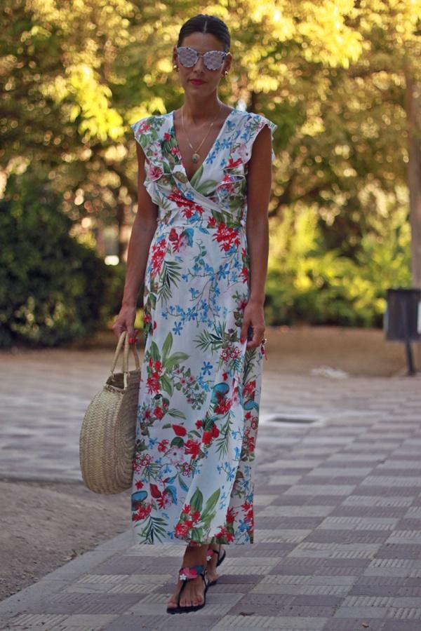 vestido largo, Long dress, estampado verano, summer print,