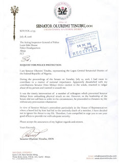 Melaye Is A Known Killer, Tinubu Alleges, Writes Police IG As Brawl Gets Messy, See Raw Copy of Letter
