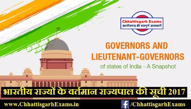 List-of-Governors-of-Indian-States-2017
