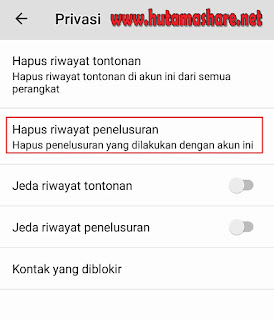 Halaman Privasi Youtube