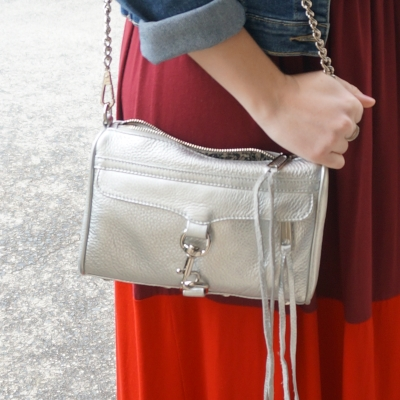 Away From The Blue | Rebecca Minkoff metallic silver mini MAC