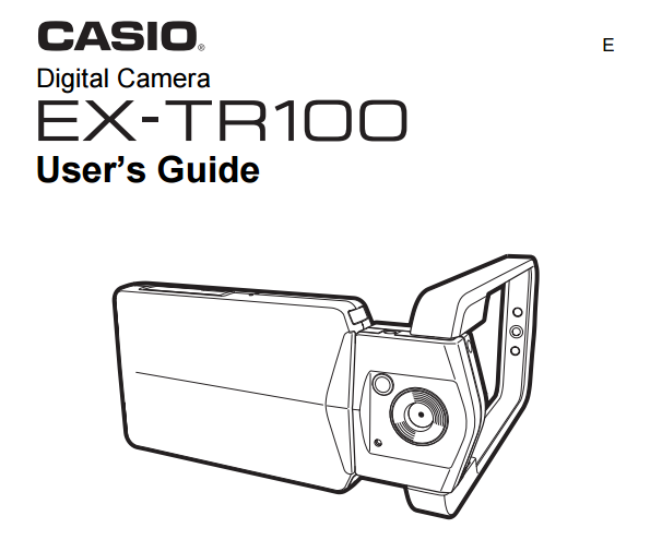 Casio EX-TR100 User Manual