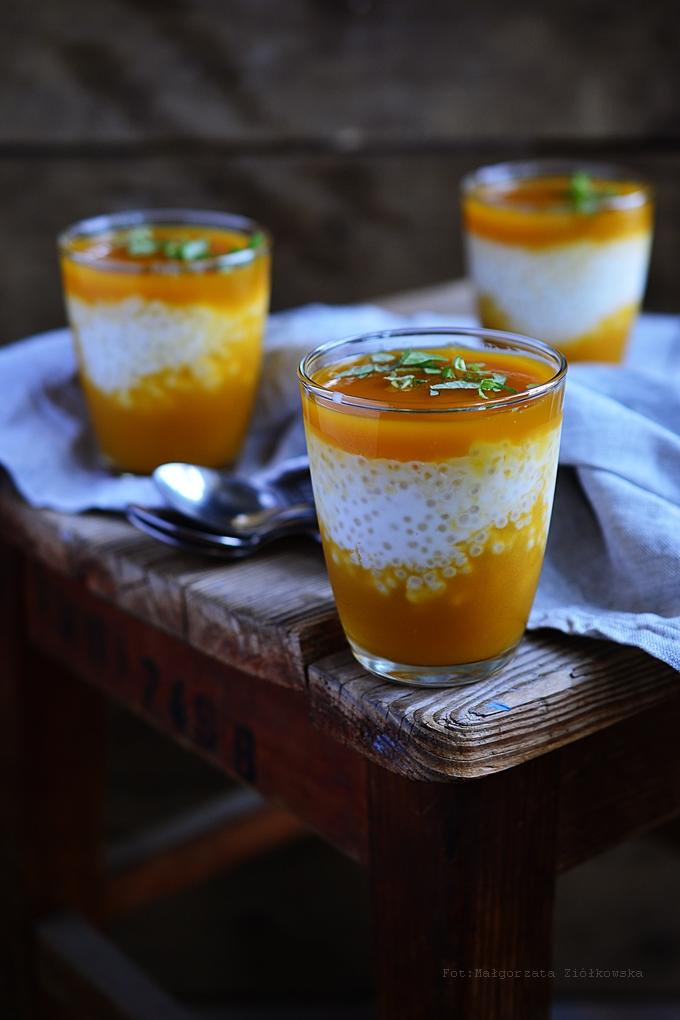 A na deser dziś tapioka z mango!