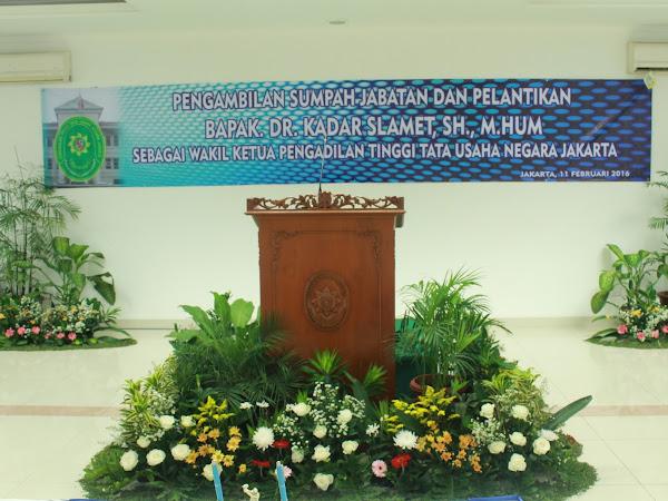 Pelantikan WAKA PTTUN Jakarta