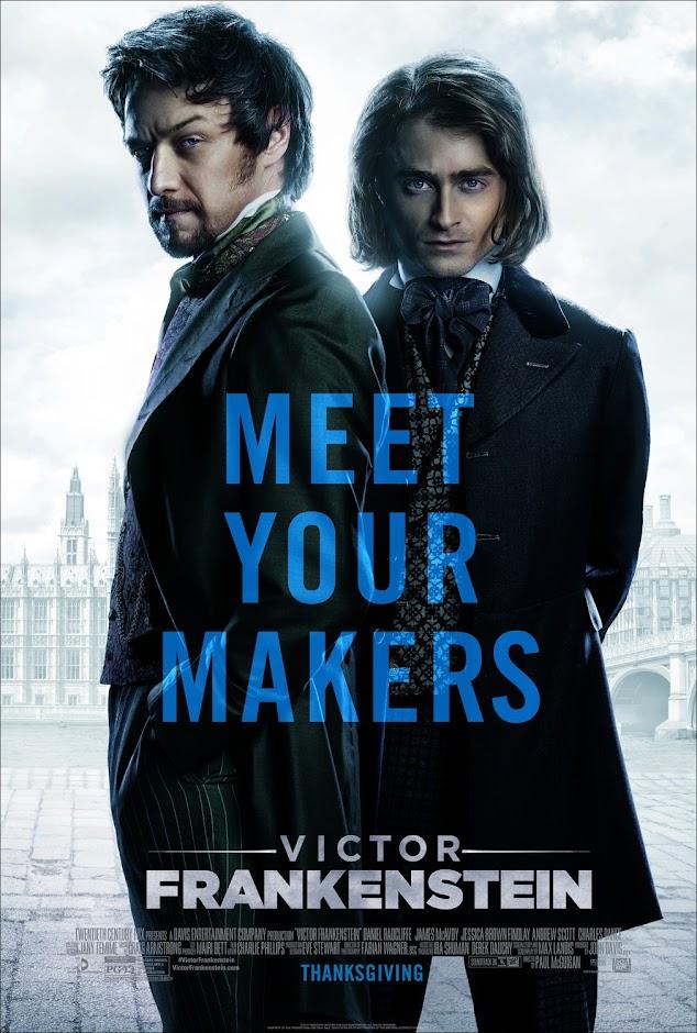 Hoje a 20th Century Fox liberou os primeiros trailer e cartaz para a sua nova versão de Frankenstein, intitulado Victor Frankenstein com Daniel Radcliffe e James McAvoy.