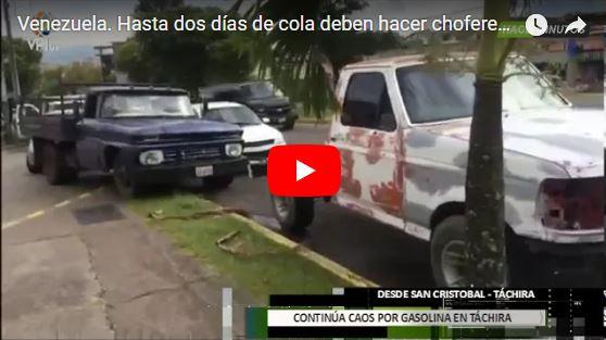 15 cuadras de cola en estaciones de servicio del Táchira