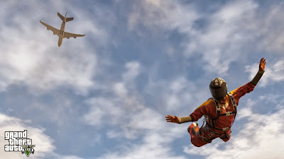 Grand Theft Auto V Skydiving Funny Video Pics