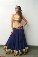Malvika Raaj in Golden Choli and Skirt at Jayadev Pre Release Function 2017 ~  Exclusive 070.JPG