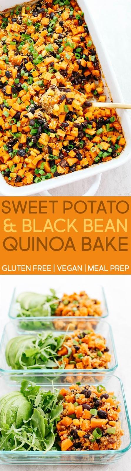 Sweet Potato & Black Bean Quínoa Bake