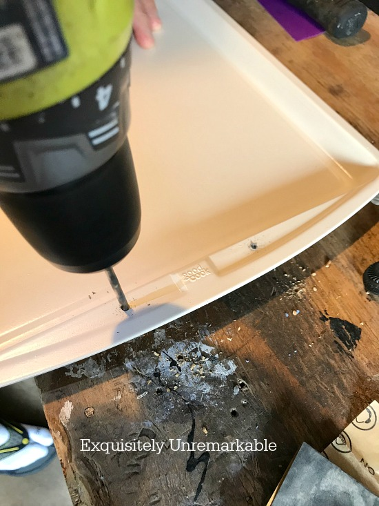 Drilling Holes For Screws In Cookie Sheet