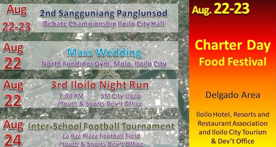 Iloilo City 76th Charter Day Celebration Schedule of Activities and Events - Part 3