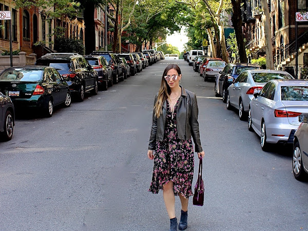 Fall Florals & Leather Jackets