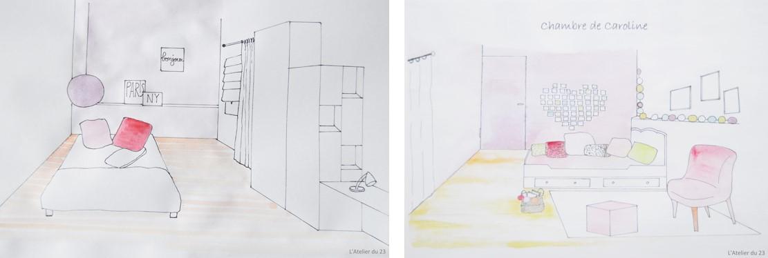 L 39 atelier du 23 choix des peintures pour les chambres de for Choix de peinture pour chambre