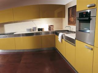 cocina moderna amarillo blanco