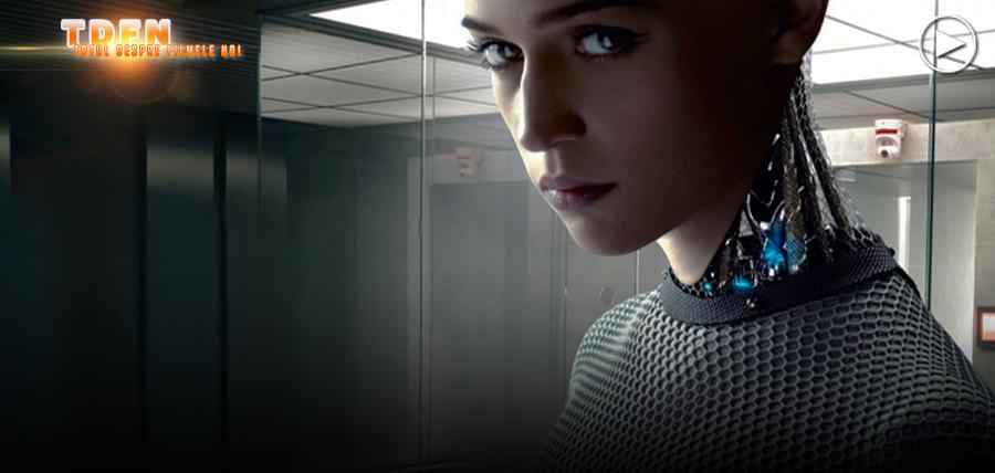 Alicia Vikander în rolul androidului Ava din filmul Ex_Machina
