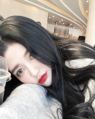 selfie coreana aburrida