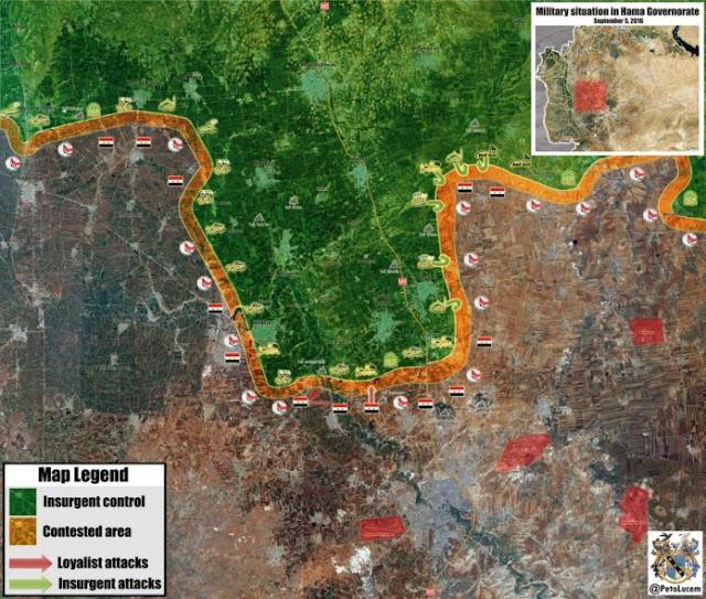 peta situasi militer terbaru di hama suriah