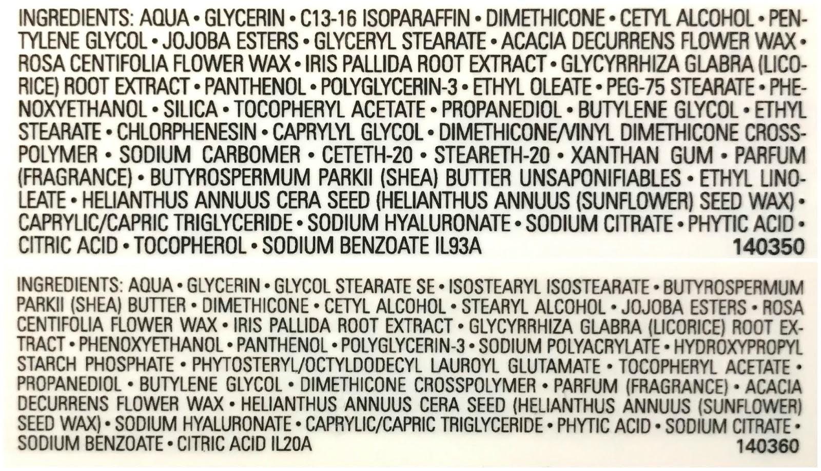 Chanel | Le Crème Main & Le Crème Main Texture Riche | Ingredients