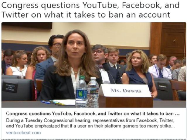 Congress queries YouTube, Facebook and Twitter about what it takes to ban an account