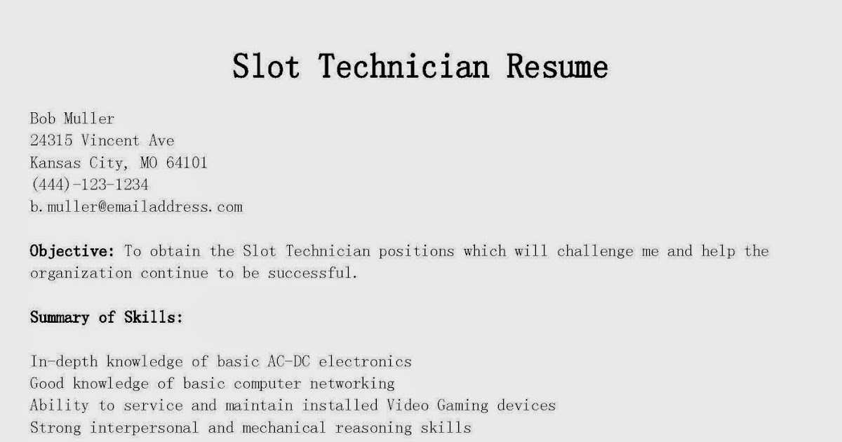 additional skills for technician resume