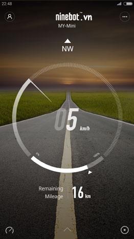 xe điện app quản lý tốc dộ