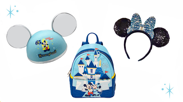 Disneyland Park 65th Anniversary ear hat, mini Loungefly's backpack, Minnie Ear headband  Merchandise Online