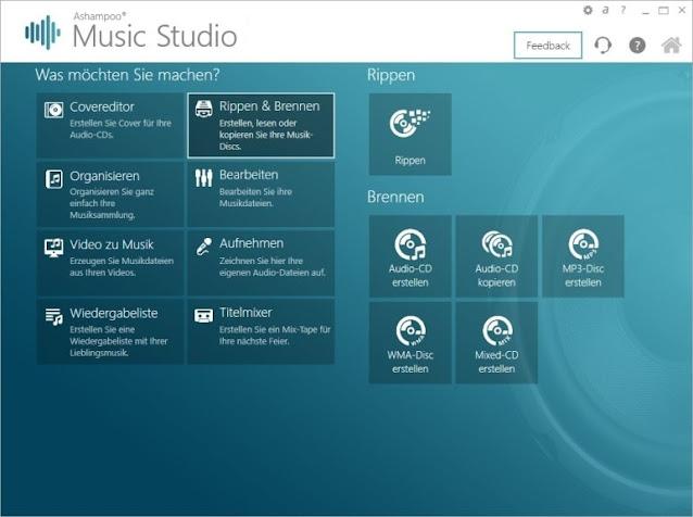 برنامج, أشامبو, محرر, ومعالج, الصوتيات, القوى, Ashampoo ,Music ,Studio, اخر, اصدار