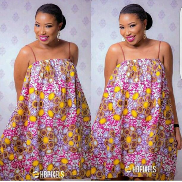 Sleeveless ankara gown