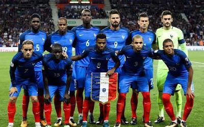 Daftar Pemain Timnas Prancis 2018