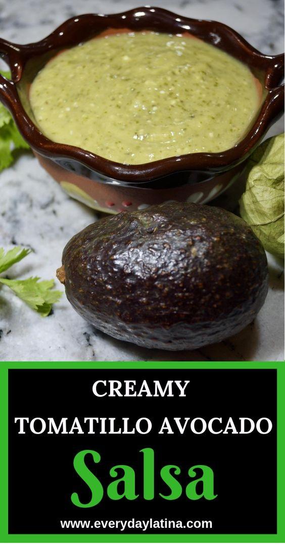 Creamy Tomatillo Avocado Salsa