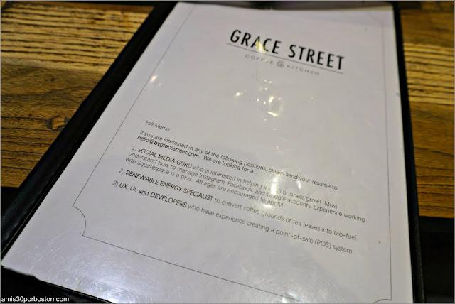 Carta de Grace Street Matcha en Nueva York