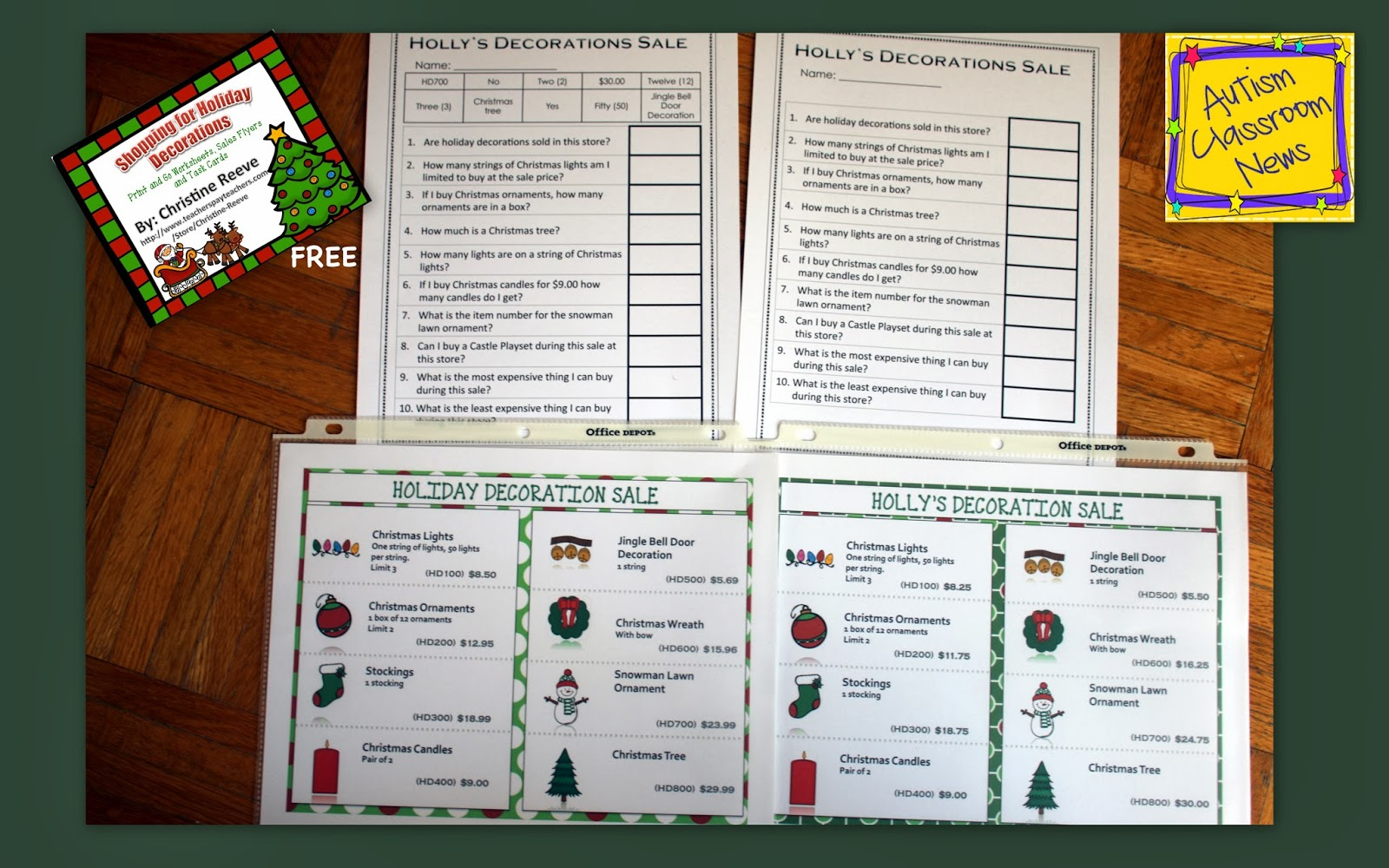 Free Easy Holiday Literacy And Math Activities For