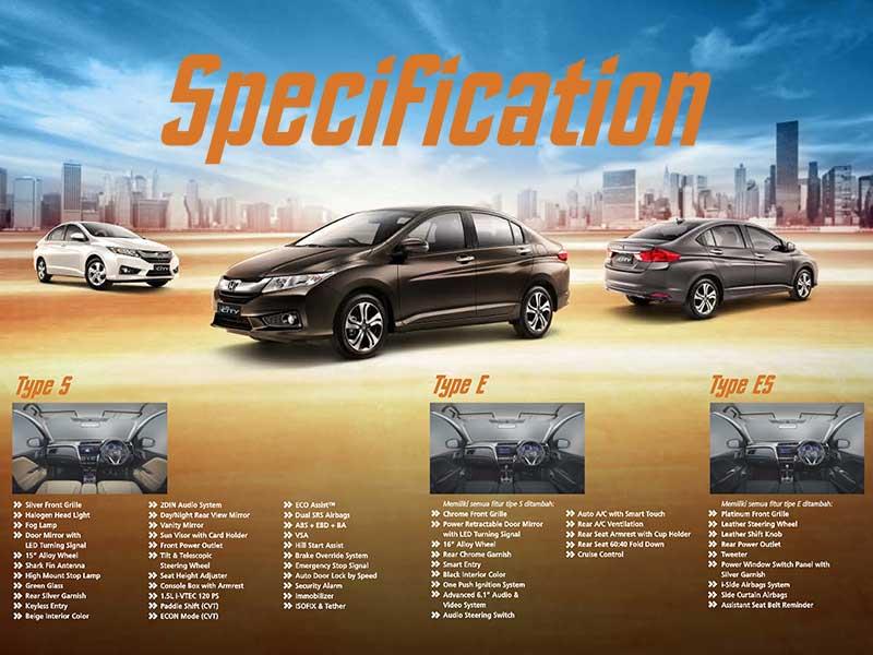 Spesifikasi Mobil Honda City