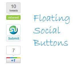 Floating Social Media Sharing Buttons for Blogger