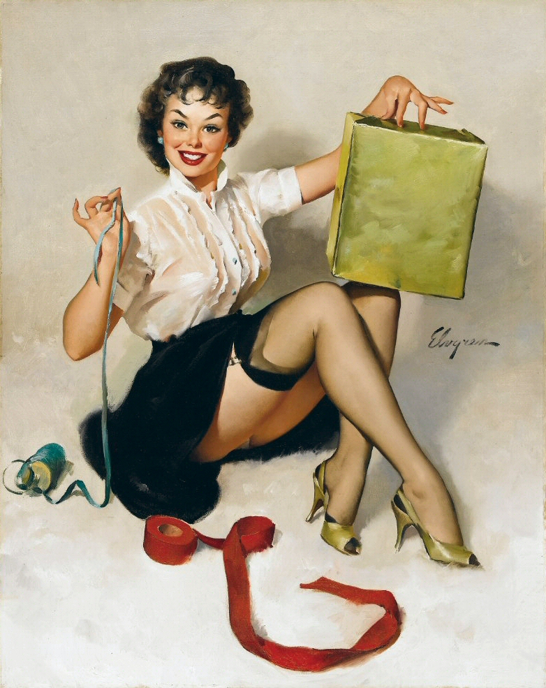 Pin up Girl Pictures: Gil Elvgren 1960s pinup girls #4