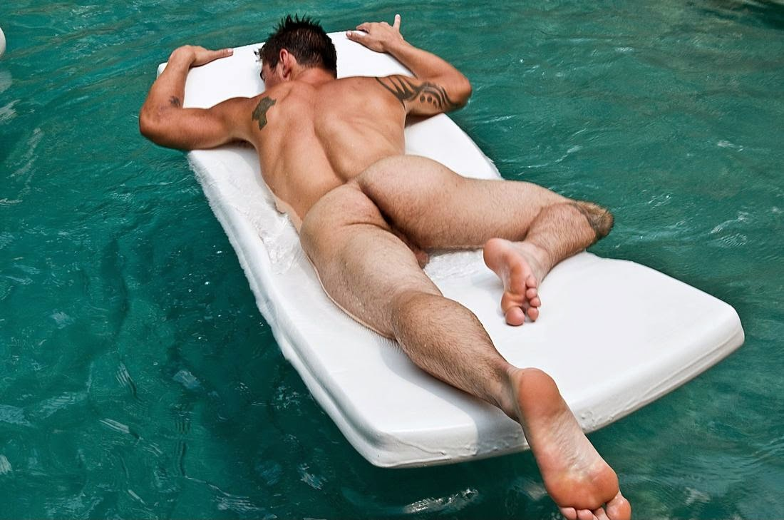 Nude Sunbathing Male