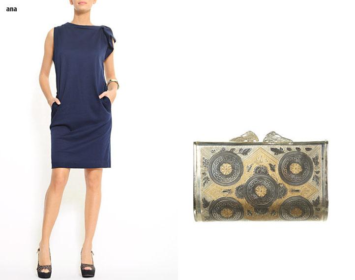 Vestido azul marino que zapatos combinan