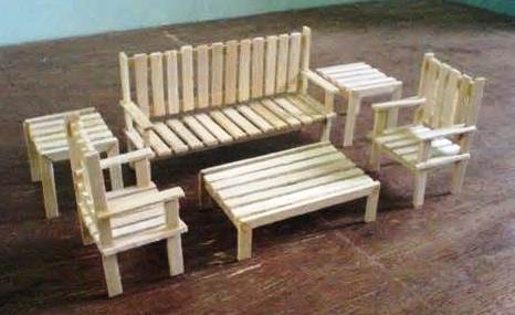 How To Make Doll Furniture Out Of Popsicle Sticks, Rotating Bookcase ...