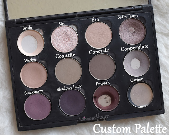Mac Custom Eyeshadow Palette Swatch Review
