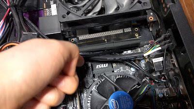 PC中身 CPU接続部分 写真